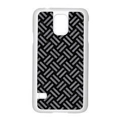 Woven2 Black Marble & Gray Colored Pencil Samsung Galaxy S5 Case (white) by trendistuff
