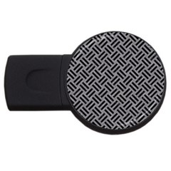 Woven2 Black Marble & Gray Colored Pencil (r) Usb Flash Drive Round (4 Gb) by trendistuff