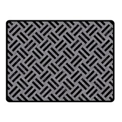 Woven2 Black Marble & Gray Colored Pencil (r) Fleece Blanket (small) by trendistuff