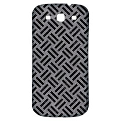 Woven2 Black Marble & Gray Colored Pencil (r) Samsung Galaxy S3 S Iii Classic Hardshell Back Case by trendistuff