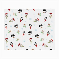 Snowman Pattern Small Glasses Cloth (2 Side) by Valentinaart