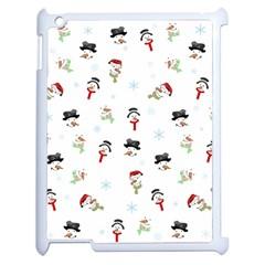 Snowman Pattern Apple Ipad 2 Case (white) by Valentinaart