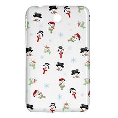 Snowman Pattern Samsung Galaxy Tab 3 (7 ) P3200 Hardshell Case  by Valentinaart