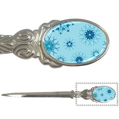 Blue Winter Snowflakes Star Letter Openers by Mariart