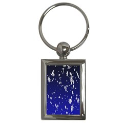 Blue Sky Christmas Snowflake Key Chains (rectangle)  by Mariart