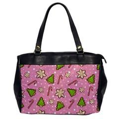 Ginger Cookies Christmas Pattern Office Handbags by Valentinaart