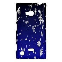 Blue Sky Christmas Snowflake Nokia Lumia 720 by Mariart