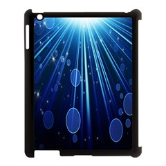 Blue Rays Light Stars Space Apple Ipad 3/4 Case (black) by Mariart