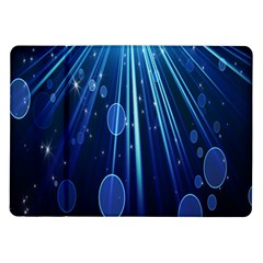 Blue Rays Light Stars Space Samsung Galaxy Tab 10 1  P7500 Flip Case by Mariart