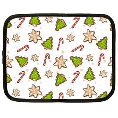 Ginger Cookies Christmas Pattern Netbook Case (xxl)  by Valentinaart