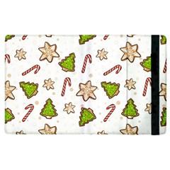 Ginger Cookies Christmas Pattern Apple Ipad 3/4 Flip Case by Valentinaart