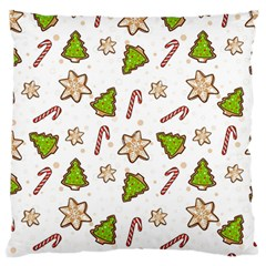 Ginger Cookies Christmas Pattern Large Flano Cushion Case (two Sides) by Valentinaart