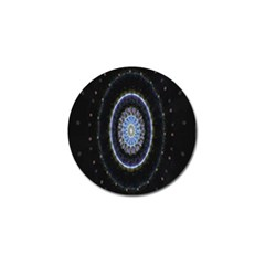 Colorful Hypnotic Circular Rings Space Golf Ball Marker (4 Pack) by Mariart