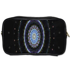 Colorful Hypnotic Circular Rings Space Toiletries Bags 2 Side by Mariart