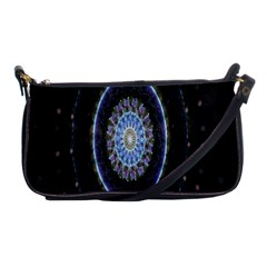 Colorful Hypnotic Circular Rings Space Shoulder Clutch Bags by Mariart