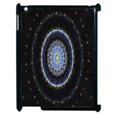 Colorful Hypnotic Circular Rings Space Apple Ipad 2 Case (black) by Mariart