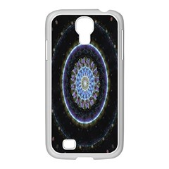 Colorful Hypnotic Circular Rings Space Samsung Galaxy S4 I9500/ I9505 Case (white) by Mariart