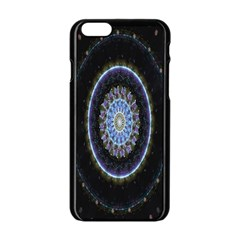 Colorful Hypnotic Circular Rings Space Apple Iphone 6/6s Black Enamel Case by Mariart