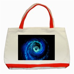 Blue Black Hole Galaxy Classic Tote Bag (red) by Mariart
