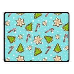 Ginger Cookies Christmas Pattern Fleece Blanket (small) by Valentinaart
