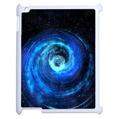 Blue Black Hole Galaxy Apple Ipad 2 Case (white) by Mariart