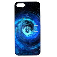 Blue Black Hole Galaxy Apple Iphone 5 Hardshell Case With Stand by Mariart