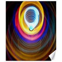 Colorful Glow Hole Space Rainbow Canvas 8  X 10  by Mariart
