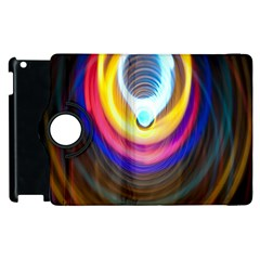 Colorful Glow Hole Space Rainbow Apple Ipad 2 Flip 360 Case by Mariart