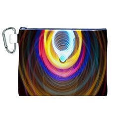 Colorful Glow Hole Space Rainbow Canvas Cosmetic Bag (xl) by Mariart