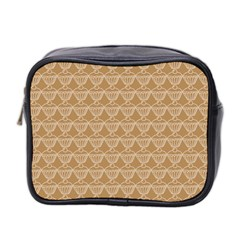 Cake Brown Sweet Mini Toiletries Bag 2 Side by Mariart