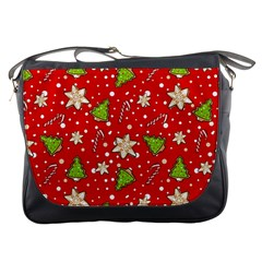 Ginger Cookies Christmas Pattern Messenger Bags by Valentinaart