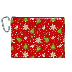 Ginger Cookies Christmas Pattern Canvas Cosmetic Bag (xl) by Valentinaart