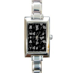 Ginger Cookies Christmas Pattern Rectangle Italian Charm Watch by Valentinaart