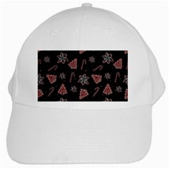 Ginger Cookies Christmas Pattern White Cap by Valentinaart