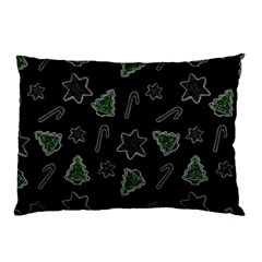 Ginger Cookies Christmas Pattern Pillow Case by Valentinaart