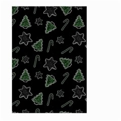 Ginger Cookies Christmas Pattern Large Garden Flag (two Sides) by Valentinaart