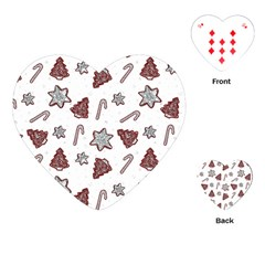 Ginger Cookies Christmas Pattern Playing Cards (heart)  by Valentinaart