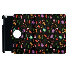 Christmas Pattern Apple Ipad 2 Flip 360 Case by Valentinaart