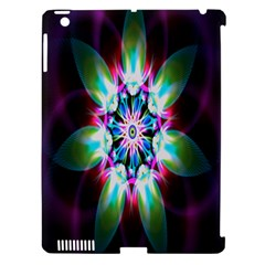 Colorful Fractal Flower Star Green Purple Apple Ipad 3/4 Hardshell Case (compatible With Smart Cover) by Mariart