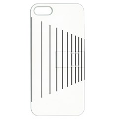 Fence Line Black Apple Iphone 5 Hardshell Case With Stand by Mariart