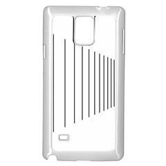 Fence Line Black Samsung Galaxy Note 4 Case (white) by Mariart