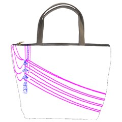 Electricty Power Pole Blue Pink Bucket Bags by Mariart