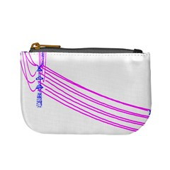Electricty Power Pole Blue Pink Mini Coin Purses by Mariart