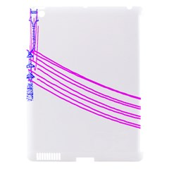 Electricty Power Pole Blue Pink Apple Ipad 3/4 Hardshell Case (compatible With Smart Cover) by Mariart