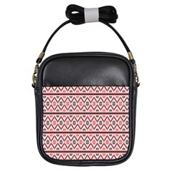 Clipart Embroidery Star Red Line Black Girls Sling Bags by Mariart