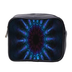 Exploding Flower Tunnel Nature Amazing Beauty Animation Blue Purple Mini Toiletries Bag 2 Side by Mariart