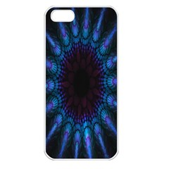 Exploding Flower Tunnel Nature Amazing Beauty Animation Blue Purple Apple Iphone 5 Seamless Case (white) by Mariart