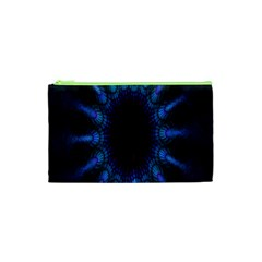 Exploding Flower Tunnel Nature Amazing Beauty Animation Blue Purple Cosmetic Bag (xs) by Mariart