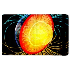 Cross Section Earth Field Lines Geomagnetic Hot Apple Ipad 3/4 Flip Case by Mariart