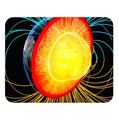 Cross Section Earth Field Lines Geomagnetic Hot Double Sided Flano Blanket (large)  by Mariart